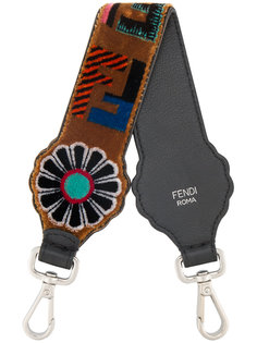 бархатная лямка на плечо Strap You с логотипом Fendi