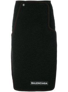 креповая юбка с логотипом Balenciaga