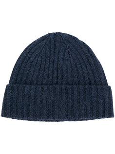 шапка в рубчик массивной вязки N.Peal