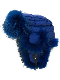 утепленная шапка с меховой оторочкой Liska
