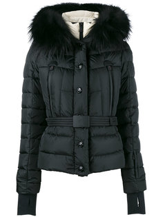куртка-пуховик с лисьим мехом Moncler Grenoble