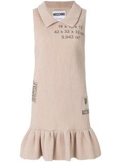 ребристое платье Handle With Care Moschino
