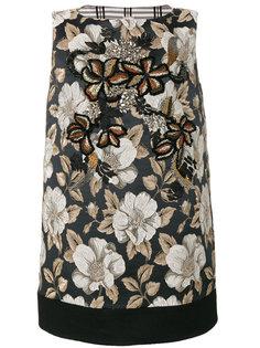 декорированное жаккардовое платье Antonio Marras