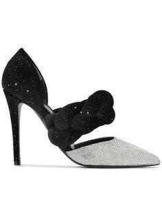 туфли-лодочки с плетеным ремешком и кристаллами Marco De Vincenzo