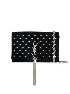 кошелек Kate с цепочкой, кисточкой и кристаллами Saint Laurent
