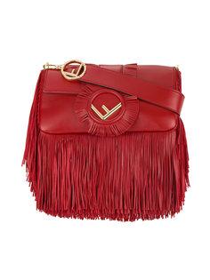 прямоугольная сумка на плечо с бахромой Fendi