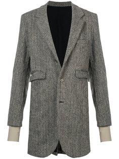 пальто с узором шеврон Undercover