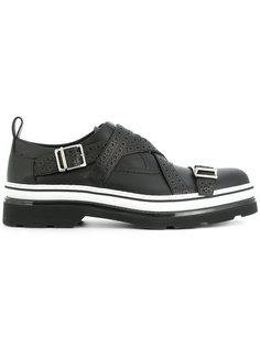 туфли-монки с полосатой подошвой Dior Homme