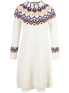 жаккардовое платье-свитер  Loewe