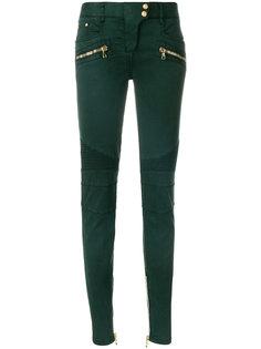 байкерские джинсы с низкой посадкой Balmain