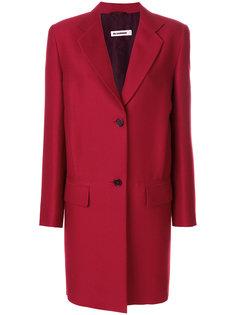 однобортное пальто Jil Sander