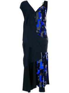 вечернее платье с драпировкой и пайетками Dvf Diane Von Furstenberg