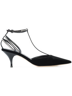 туфли с Т-образным ремешком с кристаллами  Nina Ricci