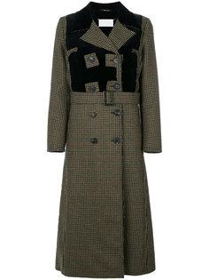 пальто в ломаную клетку Maison Margiela