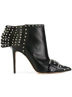 ботинки с заклепками и бахромой Alexander McQueen