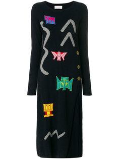 трикотажное платье вязки интарсия Peter Pilotto