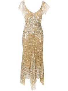 асимметричное платье с пайетками Amen