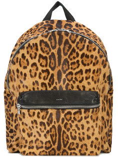 большой рюкзак с леопардовым принтом Amiri