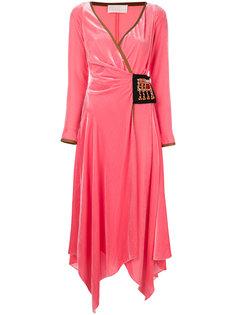 асимметричное бархатное платье с запахом Peter Pilotto
