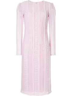 фактурное платье с длинными рукавами Ermanno Scervino