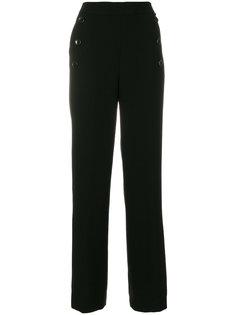 брюки с высокой талией DKNY