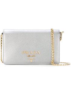 мини сумка на плечо с логотипом Prada