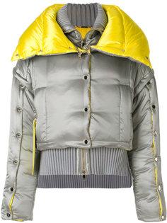 куртка-пуховик с декоративными пуговицами Versace