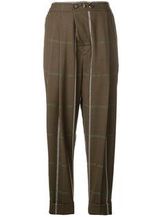брюки в клетку с заниженным шаговым швом  Vivienne Westwood