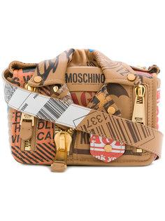 байкерская сумка на плечо в стилистике посылки Moschino