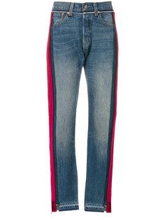прямые джинсы колор блок  Forte Couture