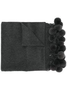 шарф с помпонами N.Peal