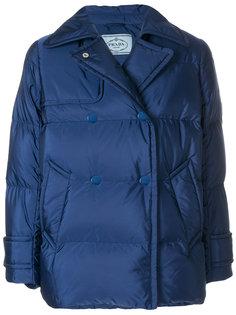 двубортная куртка-пуховик Prada