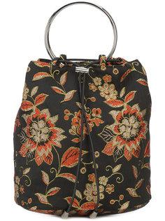 сумка с цветочной вышивкой Nomia