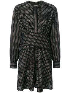 платье с баской в полоску Isabel Marant