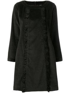 вельветовое платье в рубчик  A.P.C.