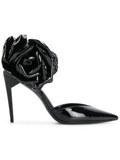 туфли с ремешком на пятке Saint Laurent