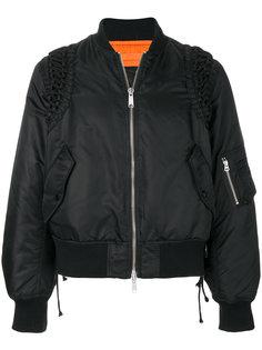 куртка-бомбер со шнуровкой KTZ