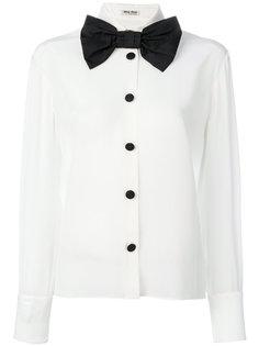 рубашка с крупной бабочкой Miu Miu