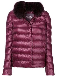 куртка-пуховик с отделкой из лисьего меха Herno