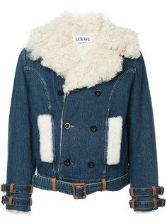 куртка с воротником из овчины Loewe