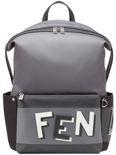 рюказк с принтом логотипа Fendi