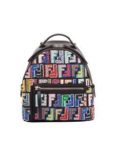 рюкзак с узором из пайеток Fendi