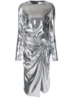 платье с присборенным поясом Saint Laurent