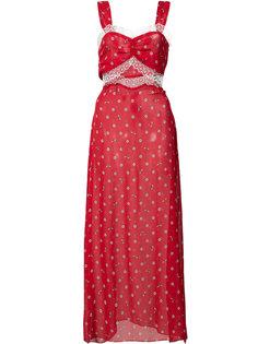 платье на бретелях с вышивкой маргариток Joana Morgan Lane