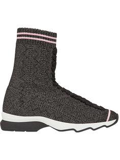 облегающие хайтопы на шнуровке Fendi