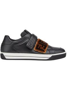 кроссовки на липучках Fendi