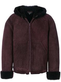 короткое пальто с отделкой из овчины Yeezy
