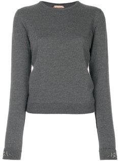 свитер с отделкой на рукавах  Nº21