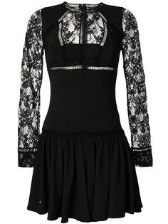 короткое платье с кружевными панелями Philipp Plein