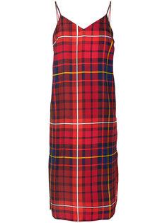 приталенное платье-миди в шотландскую клетку Tommy Hilfiger